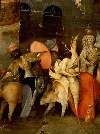 "The Triptych of ""The Temptation of St Anthony"" by Hieronymus Bosch (1450 - 1516)--Giclee Print"