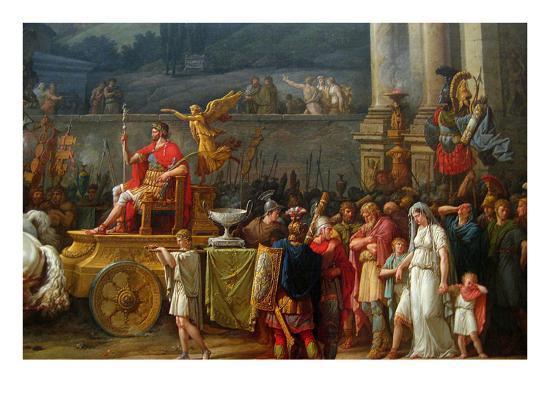 The Triumph of Aemilius Paulus,-Antoine Charles Horace Vernet-Art Print