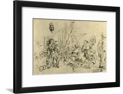 'The Triumph of David', c1759, (1928)-Giovanni Domenico Tiepolo-Framed Giclee Print