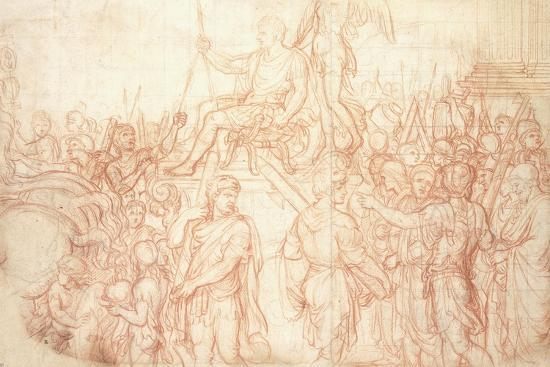 The Triumph of Emperor Constantine-Charles Le Brun-Giclee Print