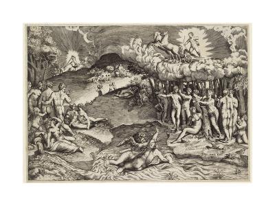 The Triumph of Love, 1545-Giulio Bonasone-Giclee Print