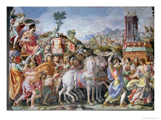 The Triumph of Marcus Furius Camillus-Francesco Salviati-Giclee Print