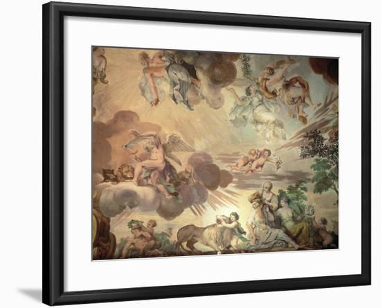 The Triumph of Peace Over War, Detail of the Heavens, from the Ceiling of the Main Hall-Anton Agelo Bonifazi-Framed Giclee Print
