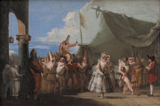 The Triumph of Pulcinella, 1760-1770-Giandomenico Tiepolo-Giclee Print