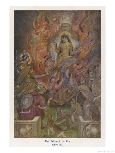 The Triumph of Sita Beloved Wife of Rama after a Succession of Adventures-Evelyn Paul-Giclee Print