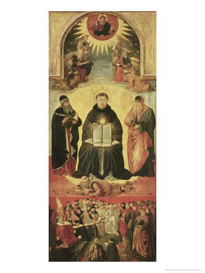The Triumph of St. Thomas Aquinas-Benozzo di Lese di Sandro Gozzoli-Giclee Print