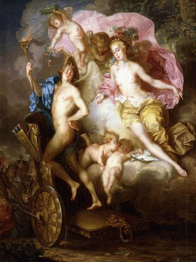 The Triumph of Venus and Cupid with Cupid's Chariot-Johann Georg Platzer-Giclee Print