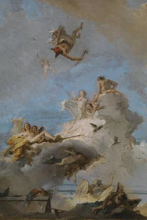 The Triumph of Venus, Between 1762 and 1765-Giandomenico Tiepolo-Stretched Canvas Print