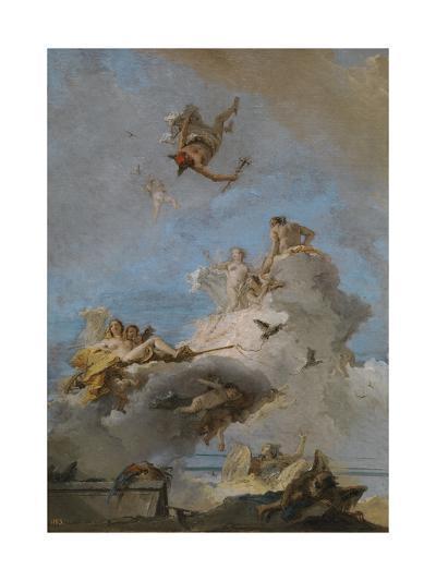 The Triumph of Venus, Between 1762 and 1765-Giandomenico Tiepolo-Giclee Print