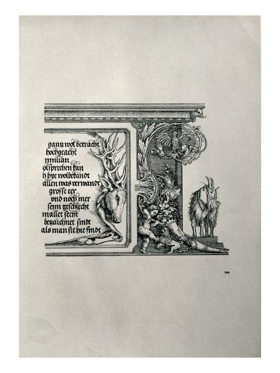 The Triumphal Arch of Emperor Maximilian I of Germany (1459-1519): Detail of a Deer-Skin-Albrecht D?rer-Giclee Print