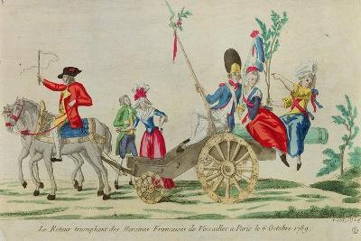 The Triumphant Return of the French Heroines from Versailles to Paris on the 6 October 1789--Giclee Print