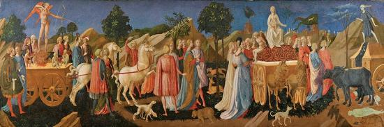 The Triumphs of Love, Chastity, and Death, C. 1450-Francesco Di Stefano Pesellino-Giclee Print