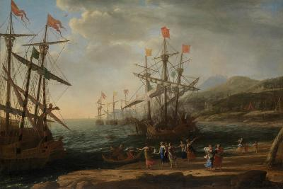 The Trojan Women Setting Fire to Their Fleet, c.1643-Claude Lorraine-Giclee Print