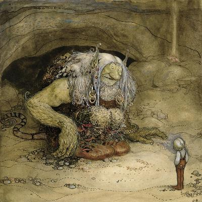The Troll and the Boy-John Bauer-Giclee Print