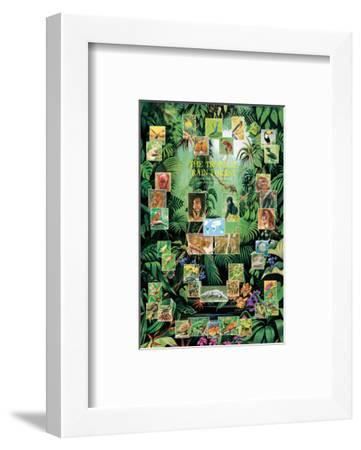 The Tropical Rain Forest--Framed Art Print