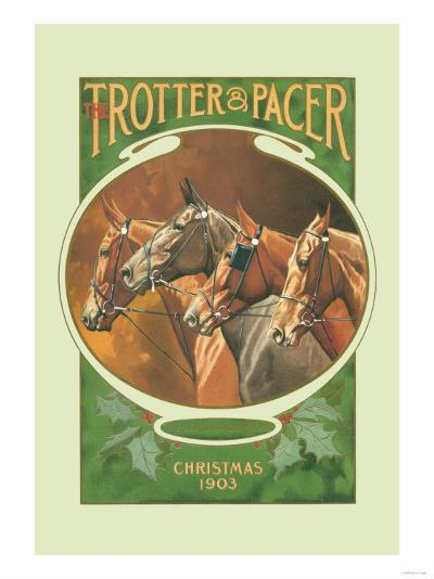 The Trotter and Pacer, Christmas 1903--Art Print