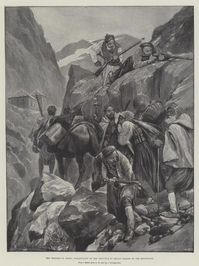 The Trouble in Crete, Inhabitants of the Province of Selino Taking to the Mountains-Richard Caton Woodville II-Giclee Print