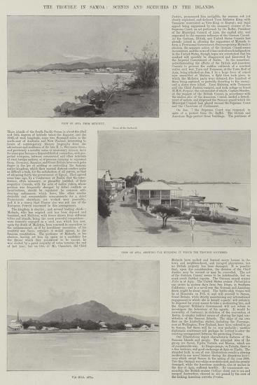 The Trouble in Samoa, Scenes and Sketches in the Islands-Charles Auguste Loye-Giclee Print