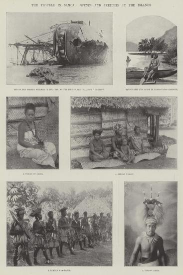 The Trouble in Samoa, Scenes and Sketches in the Islands--Giclee Print