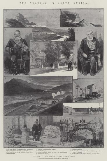 The Trouble in South Africa-Melton Prior-Giclee Print