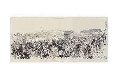 The Trouble in the Transvaal, the Boers Bringing their Prisoners into Pretoria-Melton Prior-Giclee Print