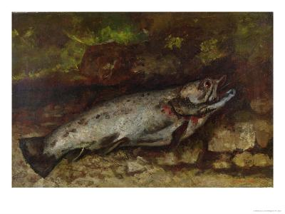 The Trout, 1873-Gustave Courbet-Giclee Print