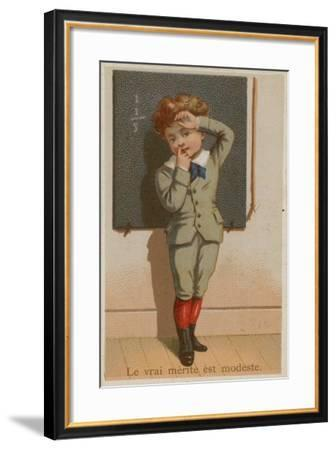The True Merit Is Modesty--Framed Giclee Print