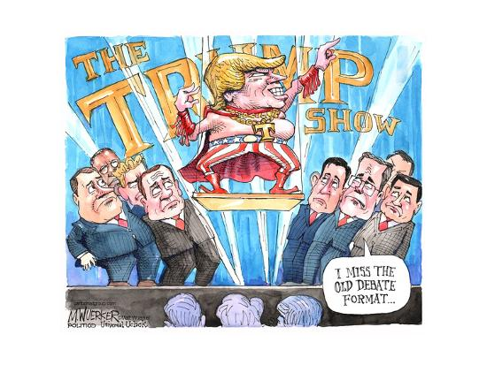 The Trump Show. T. I miss the old debate format …-Matt Wuerker-Art Print