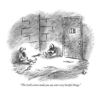 """""""The truth serum made you say some very hurtful things."""" - New Yorker Cartoon-Frank Cotham-Premium Giclee Print"""