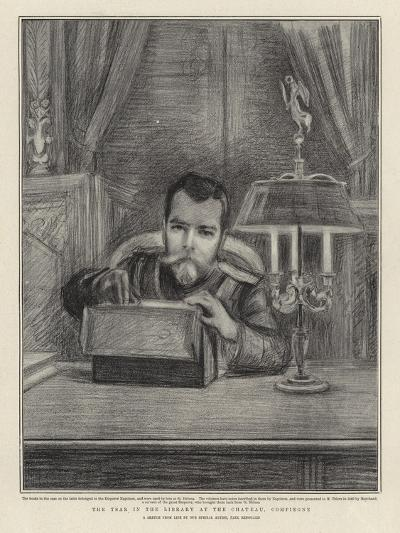 The Tsar in the Library at the Chateau, Compiegne-Charles Paul Renouard-Giclee Print