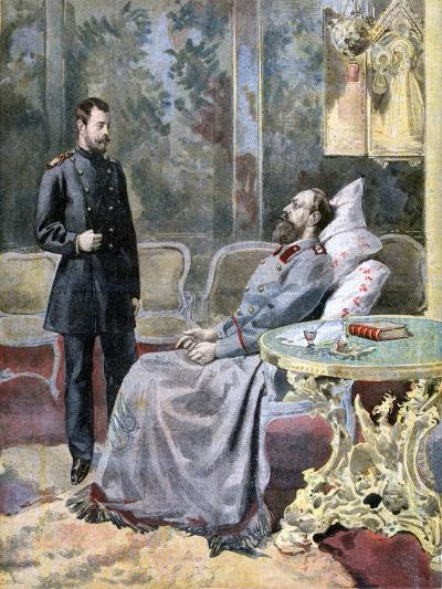 The Tsarevich Nicholas and His Father Tsar Alexander III of Russia, 1894-F Meaulle-Giclee Print
