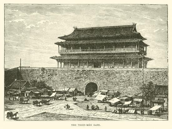 The Tsien-Men Gate--Giclee Print