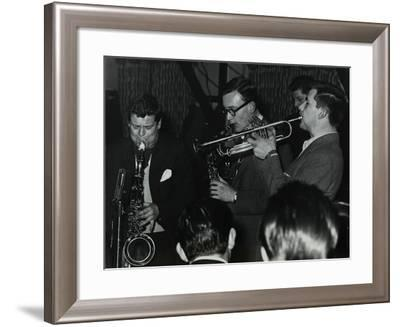 The Tubby Hayes Sextet Playing at a Modern Jazz Night at the Civic Restaurant, Bristol, 1955-Denis Williams-Framed Photographic Print