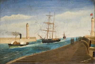 The Tug 'Rescue' Towing the Brig 'Polly' into Sunderland Harbour, 1885-James W. Ferguson-Giclee Print