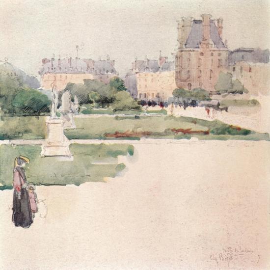 'The Tuileries Gardens', 1915-Eugene Bejot-Giclee Print