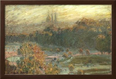 The Tuileries-Claude Monet-Framed Textured Art