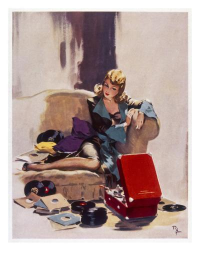 The Tune That He Loved Best-David Wright-Giclee Print