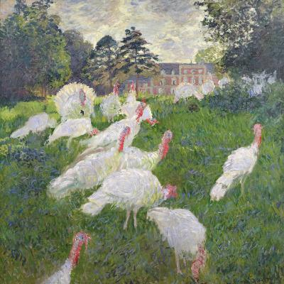 The Turkeys at the Chateau De Rottembourg, Montgeron, 1877-Claude Monet-Giclee Print