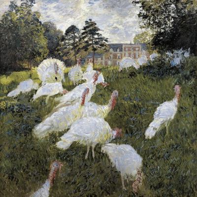 The Turkeys at the Chateau De Rottembourg, Montgeron-Claude Monet-Art Print
