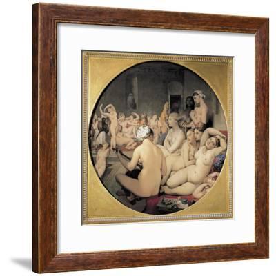 The Turkish Bath-Jean-Auguste-Dominique Ingres-Framed Art Print