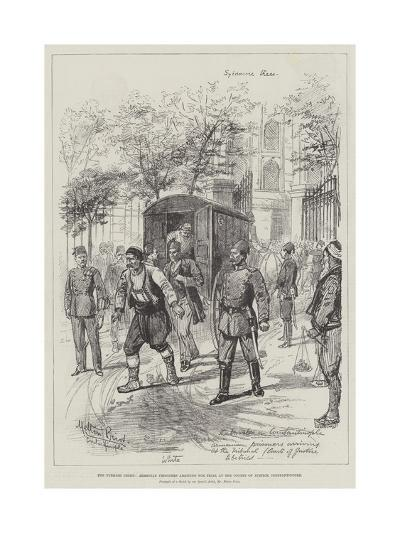 The Turkish Crisis, Armenian Prisoners Arriving for Trial at the Courts of Justice, Constantinople-Melton Prior-Giclee Print