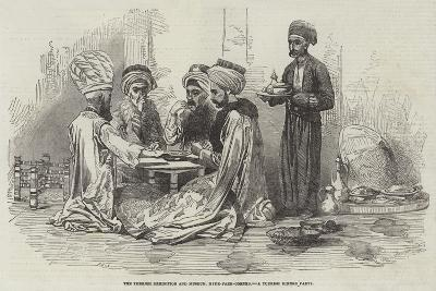 The Turkish Exhibition and Museum, Hyde-Park-Corner, a Turkish Dinner Party--Giclee Print