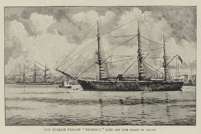 The Turkish Frigate Ertogrul Lost Off the Coast of Japan--Giclee Print