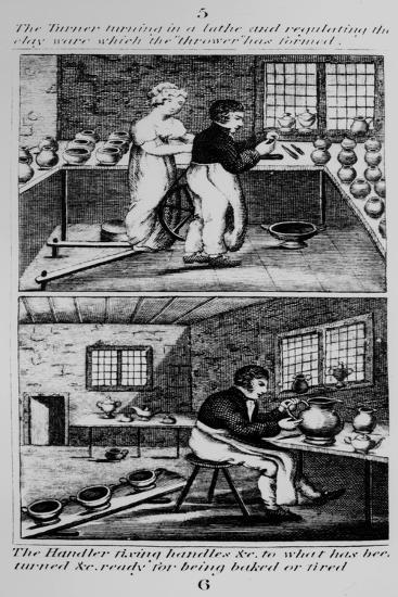 The Turner Turning the Lathe, 1827--Giclee Print