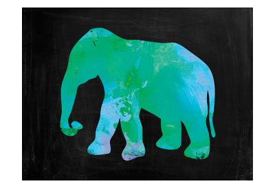 The Turquoise Elephant-Victoria Brown-Art Print