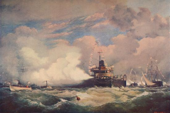 'The Turret Armour-Clad Ship 'Devastation' at Spithead, 1873 (1906)-Unknown-Giclee Print