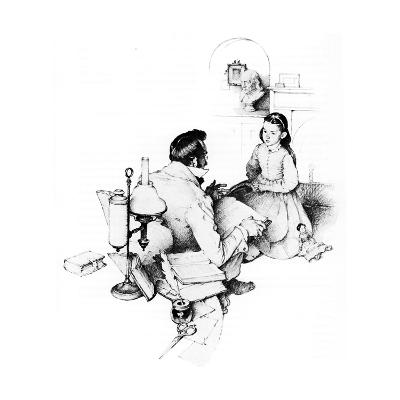 The Tutor (or The Tutor)-Norman Rockwell-Giclee Print