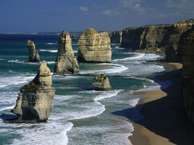 The Twelve Apostles, Port Campbell National Park, Victoria, Australia-Michael and Patricia Fogden/Minden Pictures-Photographic Print