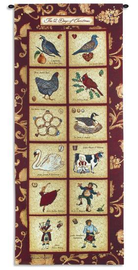 The Twelve Days of Christmas-Stephanie Marrott-Wall Tapestry