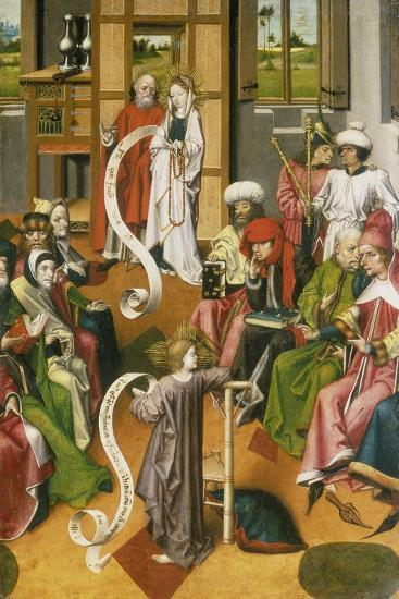 The Twelve Year-Old Jesus in the Temple, Westphalia, C. 1450--Giclee Print